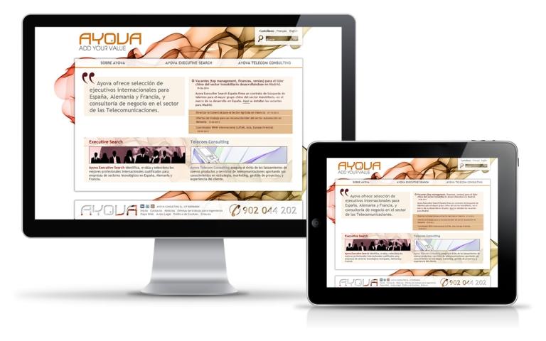 Diseñador web para consultora