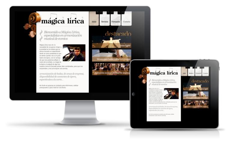 Diseñador web para eventos musicales