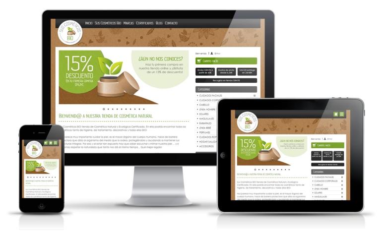 Diseñador web para tienda online de cosmética